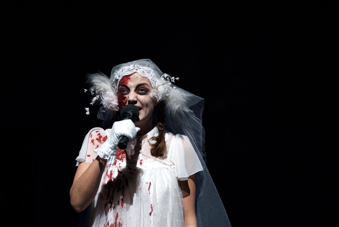 Una de las actrices de Le Chagrin des Ogres de Fabrice Murgia