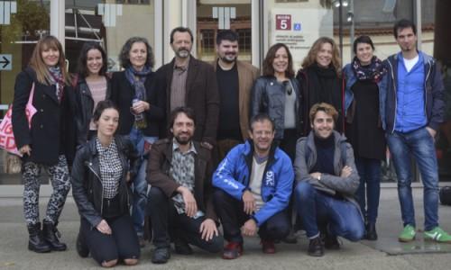 Jordi Casanovas i l'equip de Vilafranca
